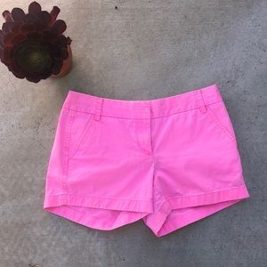 J. Crew Hot Pink Chino Shorts